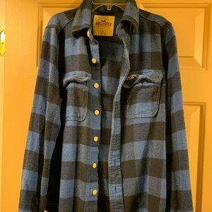 Hollister Blue Flannel Button-up Shirt